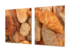 HUGE TEMPERED GLASS CHOPPING BOARD – Bread and flour series DD09 French croissant