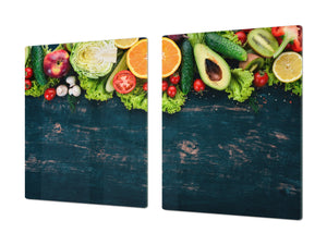 UNIQUE Tempered GLASS Kitchen Board Fruit and Vegetables series DD02 Fruit and vegetables 2