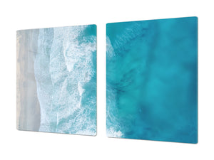 Gigantic KITCHEN BOARD & Induction Cooktop Cover - Water Series DD10 Rough sea
