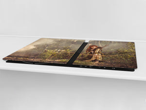 Induction Cooktop Cover – Glass Worktop saver: Fantasy and fairy-tale series DD18 Robin Hood's girlfriend