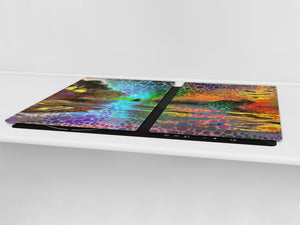 Worktop saver and Pastry Board – Cooktop saver; Series: Outside Series DD19 A colorful picture