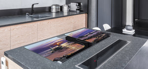 GIGANTIC CUTTING BOARD and Cooktop Cover- Image Series DD05A Fisherman's haven