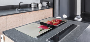 LARGE CUTTING BOARD and Cooktop Cover – Worktop saver;  Drinks  Series  DD11 Pomegranate cocktail