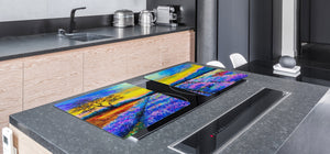 Impact & Shatter Resistant Worktop saver- Image Series DD05B Heather field