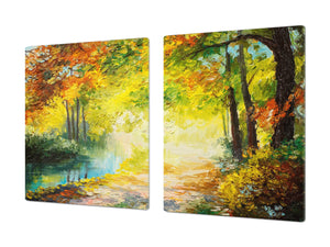 Impact & Shatter Resistant Worktop saver- Image Series DD05B Autumn in the park