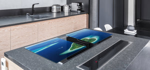 Gigantic KITCHEN BOARD & Induction Cooktop Cover - Water Series DD10 Islands on the ocean