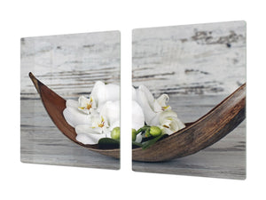 ENORMOUS  Tempered GLASS Chopping Board - Flower series DD06A Orchid 2