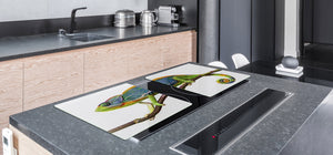 Gigantic Worktop saver and Pastry Board - Tempered GLASS Cutting Board Animals series DD01 Chameleon 1