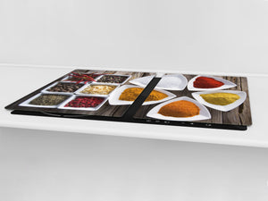 HUGE TEMPERED GLASS COOKTOP COVER A spice series DD03A Indian spices 1