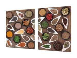 HUGE TEMPERED GLASS COOKTOP COVER A spice series DD03A Mosaic from spices 1