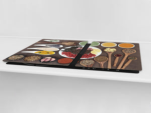 HUGE TEMPERED GLASS COOKTOP COVER A spice series DD03A Mosaic with spices 4