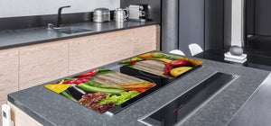 UNIQUE Tempered GLASS Kitchen Board Fruit and Vegetables series DD02 I love veg
