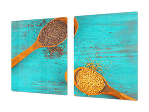 Cutting Board and Worktop Saver – SPLASHBACKS: A spice series DD03B Grains of groats
