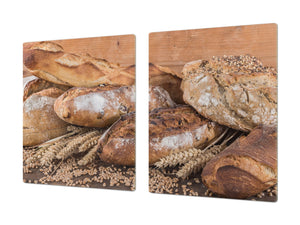 HUGE TEMPERED GLASS CHOPPING BOARD – Bread and flour series DD09 Breads 1