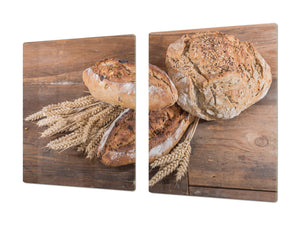 HUGE TEMPERED GLASS CHOPPING BOARD – Bread and flour series DD09 Breads 2