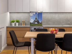 Glass Upstand – Sink backsplash BS25 Cities Series: Paris Eiffel Tower 1