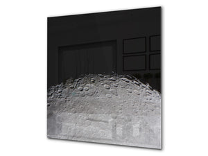 Printed Tempered glass wall art BS13 Various Series: Cosmos Moon 1