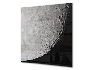 Printed Tempered glass wall art BS13 Various Series: Cosmos Moon 2