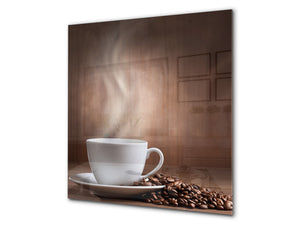 Printed Tempered glass wall art BS05A Coffee A Series: Brewed Coffee