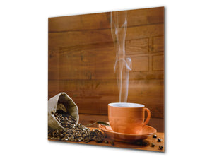 Printed Tempered glass wall art BS05A Coffee A Series: Coffee In A Cup 3