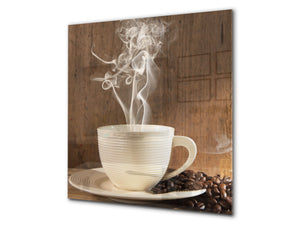 Printed Tempered glass wall art BS05A Coffee A Series: Coffee Cup 2