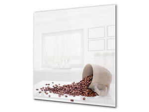 Printed Tempered glass wall art BS05A Coffee A Series: Spilled Coffee 2