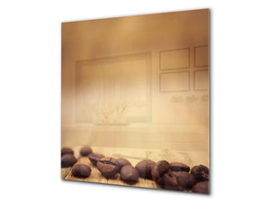 Printed Tempered glass wall art BS05A Coffee A Series: Spilled Coffee 3