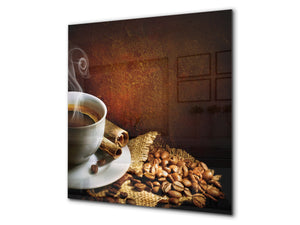 Printed Tempered glass wall art BS05A Coffee A Series: Coffee In A Cup 6