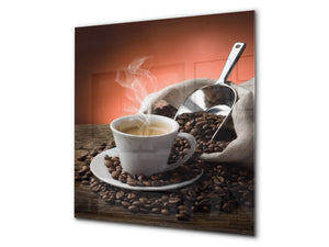 Printed Tempered glass wall art BS05A Coffee A Series: Coffee In A Cup 7