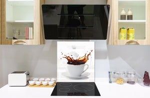 Printed Tempered glass wall art BS05A Coffee A Series: Coffee Sugar Cubes 1