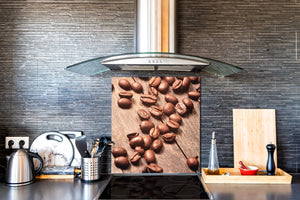 Printed Tempered glass wall art BS05B Coffee B Series: Coffee Beans 3