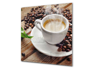 Printed Tempered glass wall art BS05B Coffee B Series: Coffee Cup 3