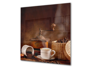 Printed Tempered glass wall art BS05B Coffee B Series: Coffee Grinder 2