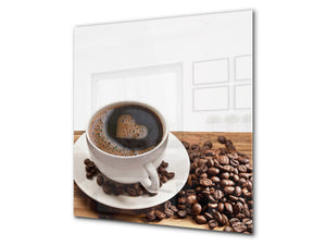 Printed Tempered glass wall art BS05B Coffee B Series: Coffee Beans 5
