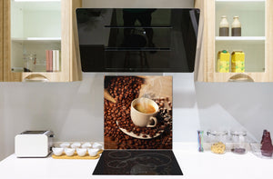 Printed Tempered glass wall art BS05B Coffee B Series: Coffee Beans 6