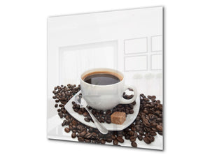 Printed Tempered glass wall art BS05B Coffee B Series: Cup With Coffee 1
