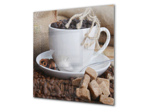Printed Tempered glass wall art BS05B Coffee B Series: Cup Of Coffee 2