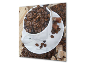 Printed Tempered glass wall art BS05B Coffee B Series: Cup With Coffee 3