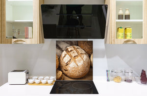 Glass kitchen backsplash BS22 Bakery products Series: Wheat Bread Bread 2