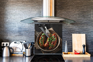 Printed tempered glass backsplash – BS23 European tradicional food Series: Grilled Sausage
