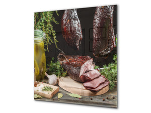 Printed tempered glass backsplash – BS23 European tradicional food Series: Pickled Cucumbers 2