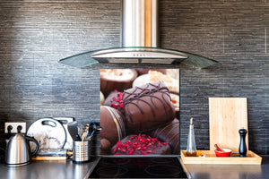 Tempered glass Cooker backsplash BS07 Desserts Series: Sweets Chocolates 3