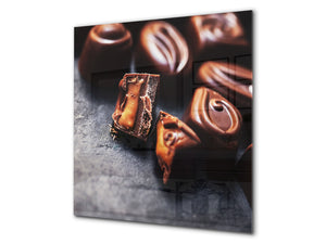 Tempered glass Cooker backsplash BS07 Desserts Series: Sweets Chocolates 4