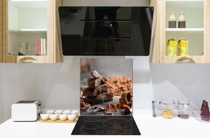 Tempered glass Cooker backsplash BS07 Desserts Series: Chocolate Sweets