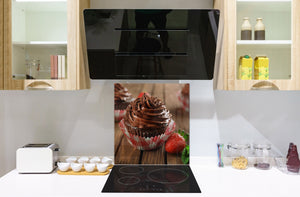 Tempered glass Cooker backsplash BS07 Desserts Series: Muffin Cupcake 1
