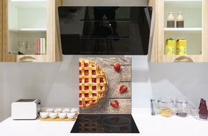 Tempered glass Cooker backsplash BS07 Desserts Series: Strawberry Cake 3