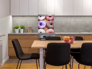 Stunning printed Glass backsplash BS06 Pastries and sweets: Donut Donut