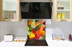 Stunning printed Glass backsplash BS06 Pastries and sweets: Colorful Jelly Beans 2