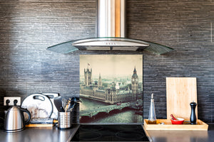 Tempered glass kitchen wall panel BS24 Bridges Series: City Panorama 16