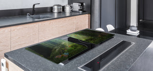 Induction Cooktop Cover – Glass Worktop saver: Fantasy and fairy-tale series DD18 Forest aura